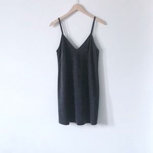 Aritzia Wilfred Free Grey Charcoal Vivienne Dress
